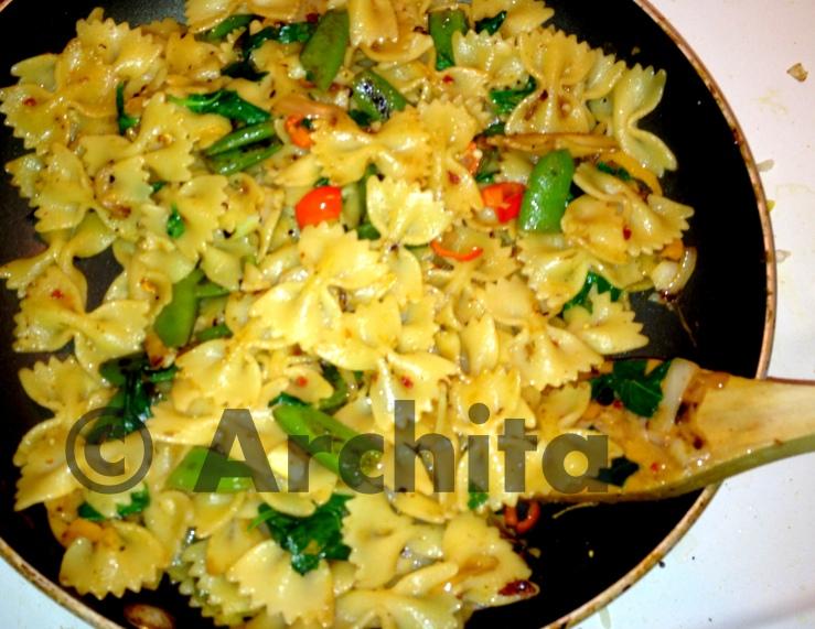 pasta with snow peas