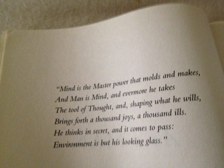 "First Page of ""As A Man Thinketh"" I saved for myself!"